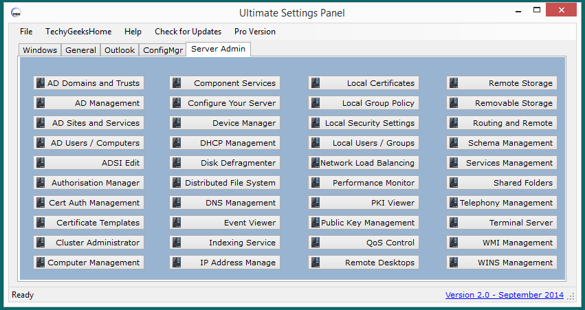Ultimate Settings Panel version 2.0 Released 5