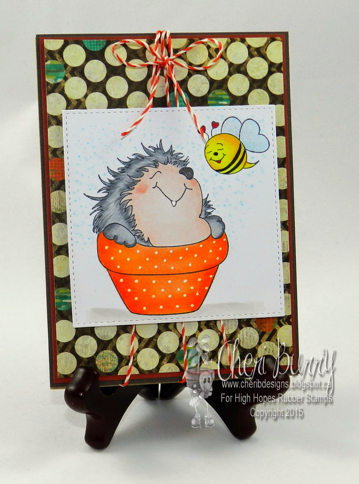 Store Banne 5x4 High Hopes Stamps Hedgy The Hedge Hog