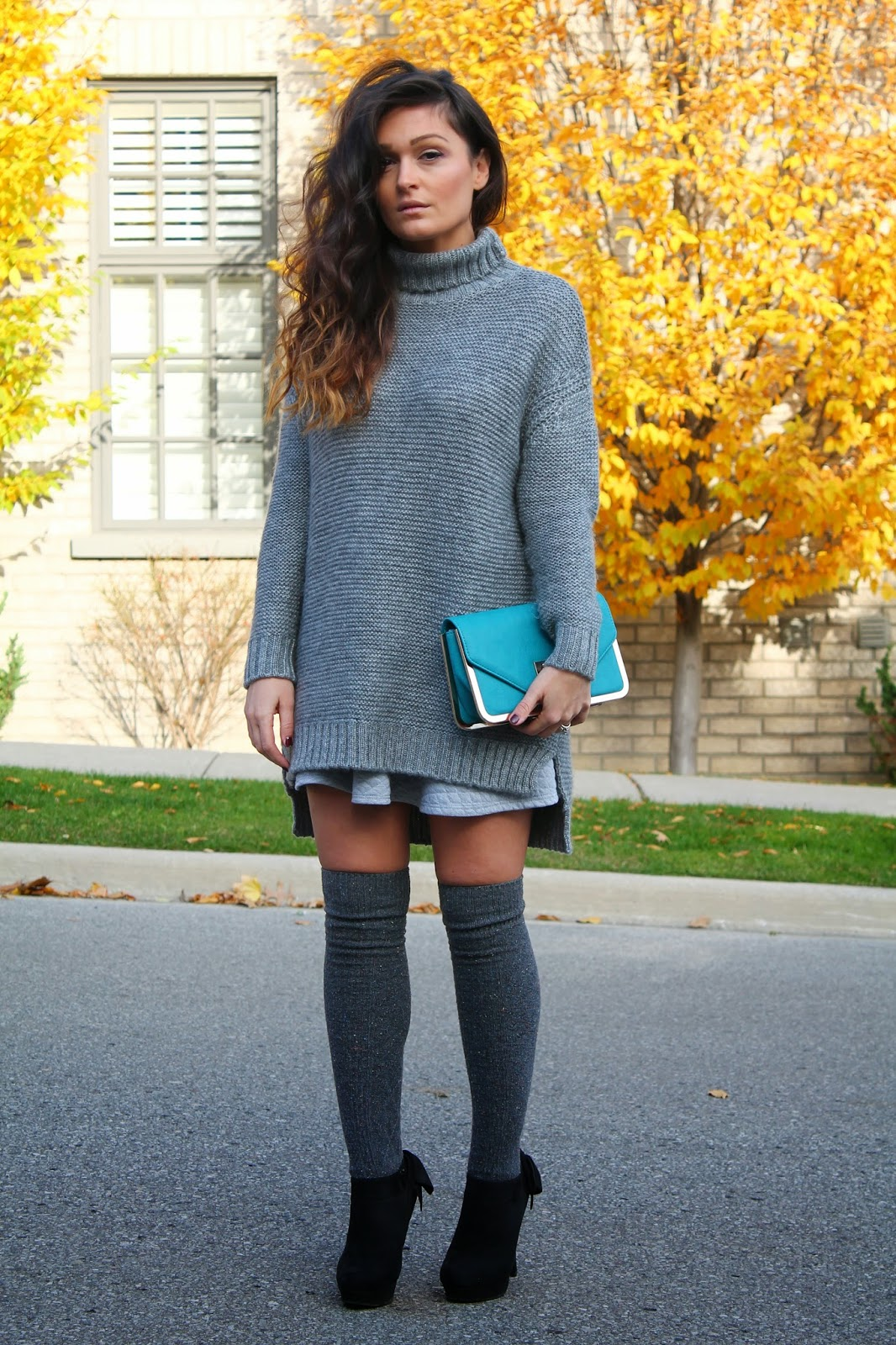 d03c69a0bc6 Tone on Tone Layering With Zara Sweaterdress