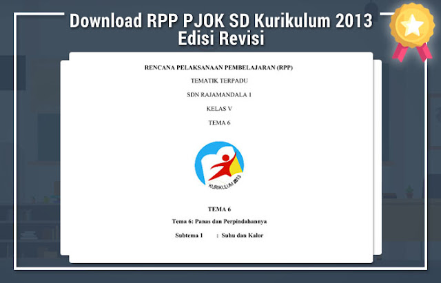 Download RPP PJOK SD Kurikulum 2013 Edisi Revisi