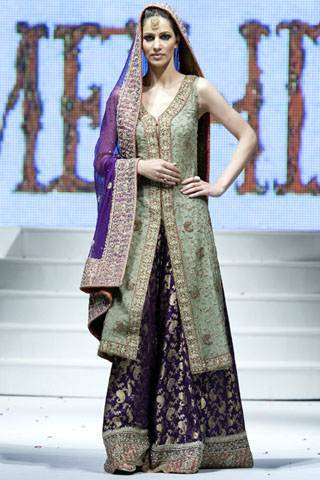 Purple Pakistani Bridal Wedding Dresses