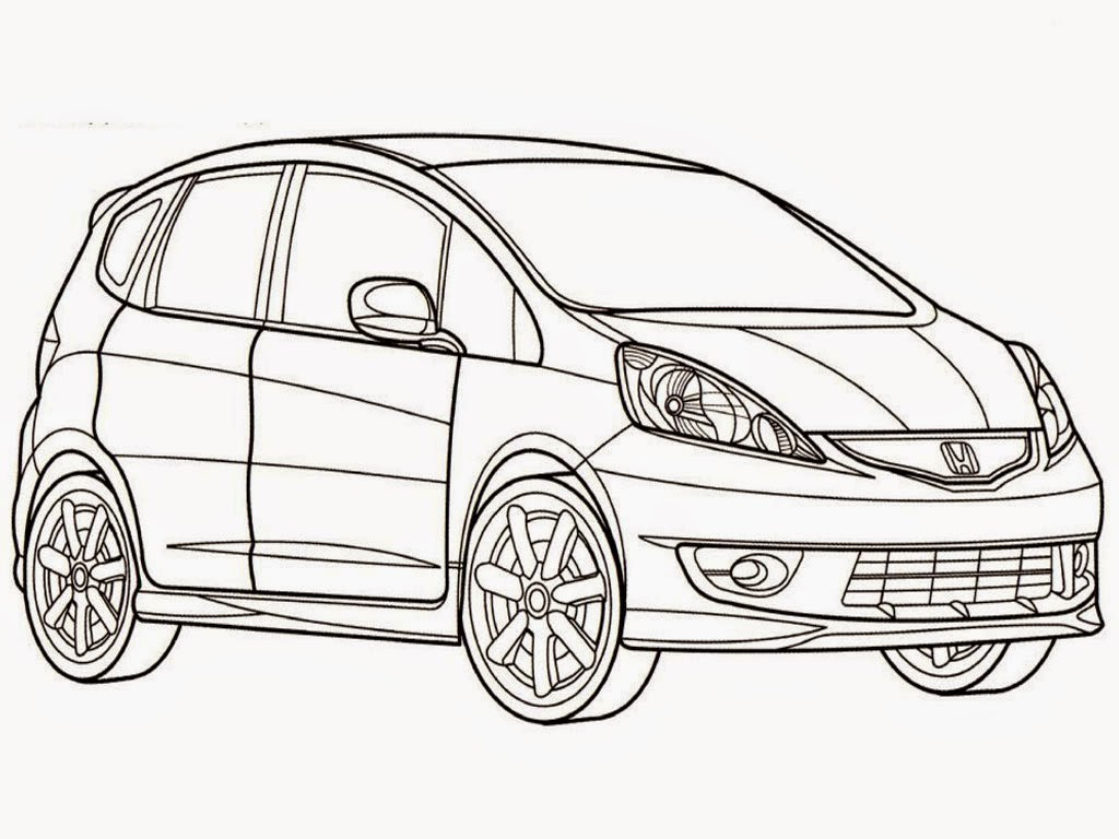 Honda Fit Sport Free Printable Coloring Pages