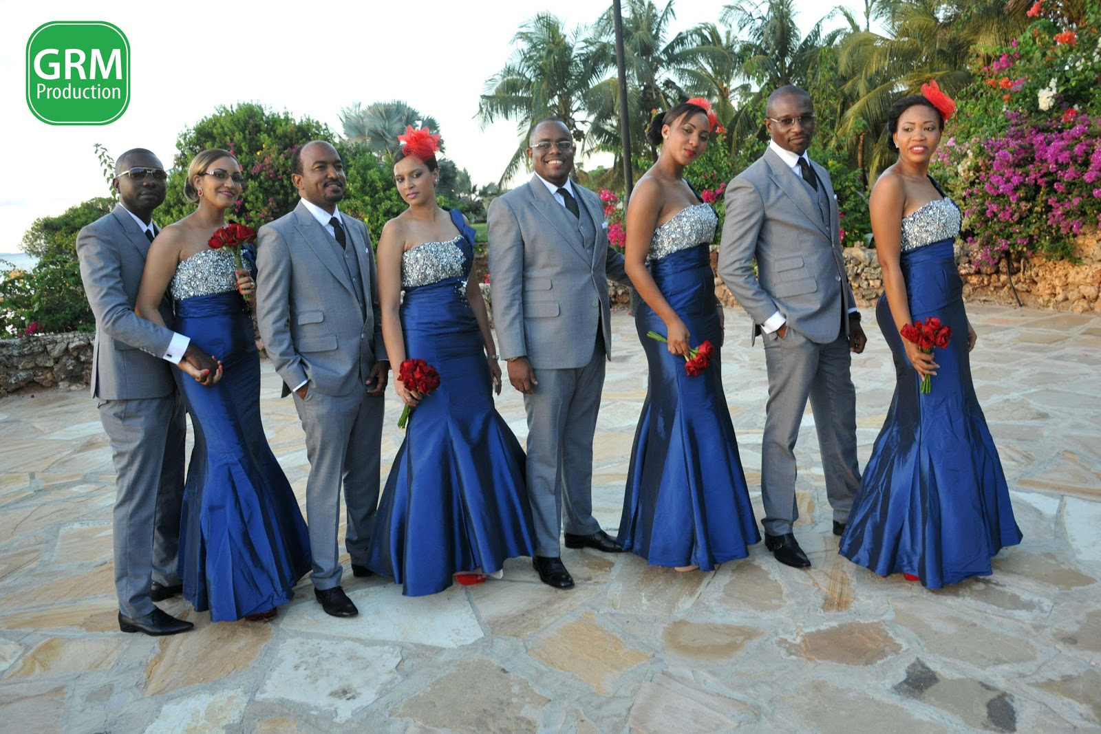 Blue And Red Weddings Image