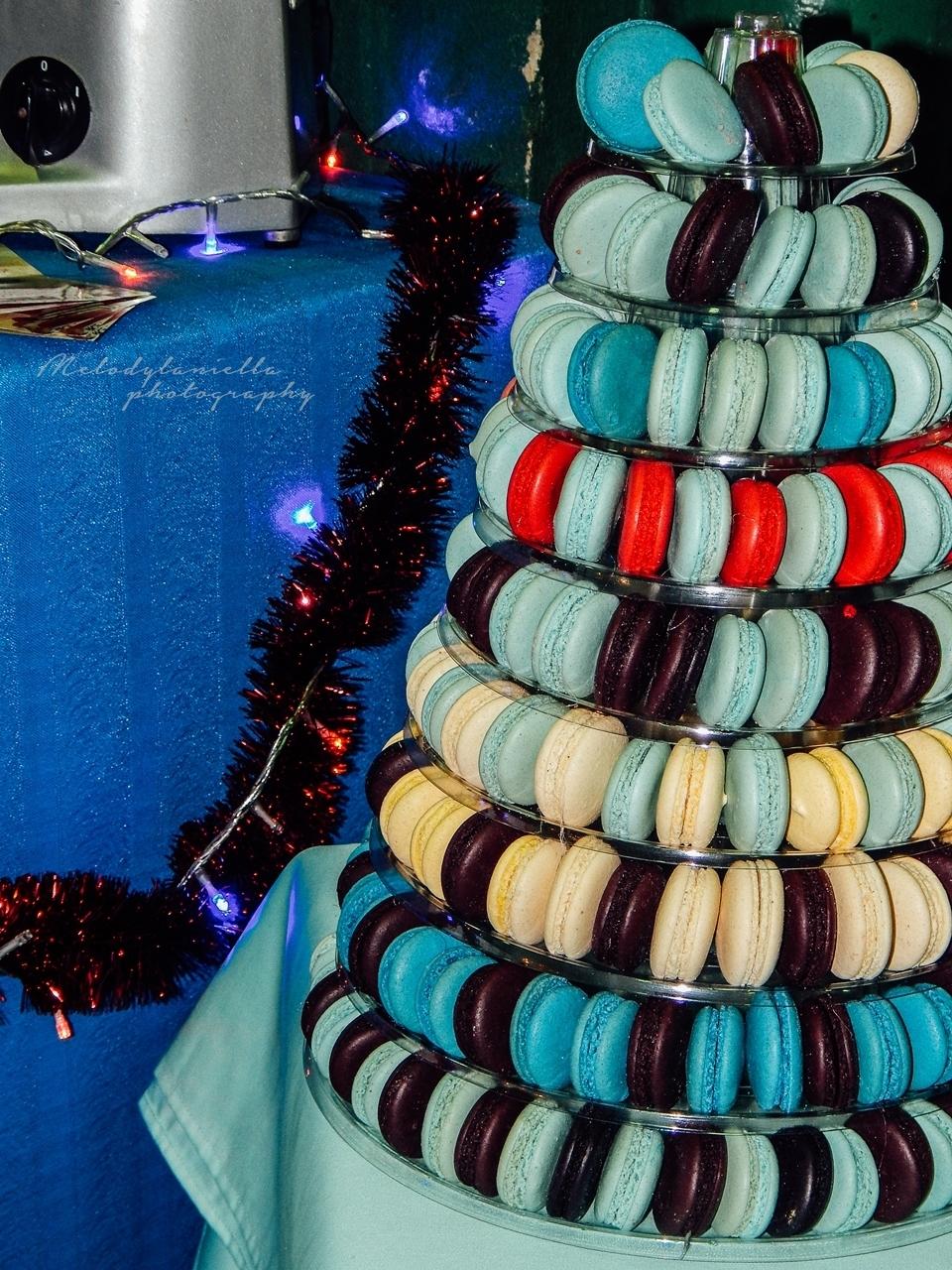sucre święta Bożego Narodzenia słodkości ciasteczka francuskie makaroniki