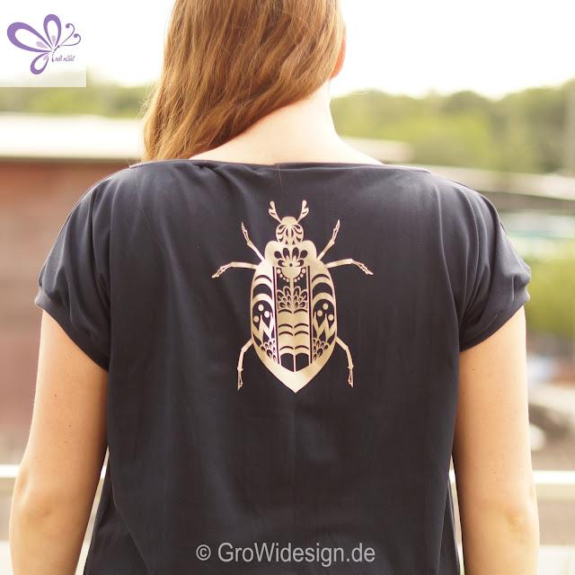 Selfmade Short Dress, kaidso onlinekurse, shirt maritim, Junikäfer, growidesign