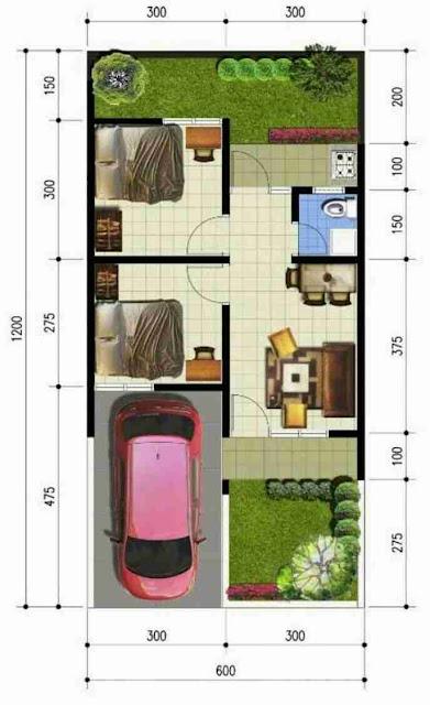 Desain Mewah dan Sederhana Rumah Minimalis type 72 dengan 1 lantai