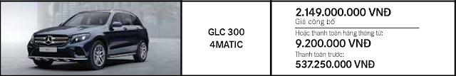 Giá xe Mercedes GLC 300 4MATIC giảm giá hấp dẫn
