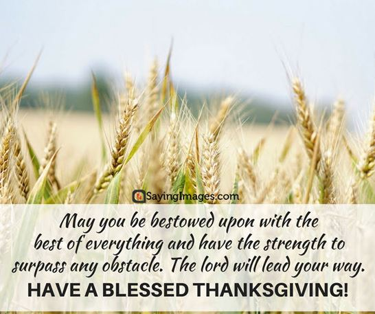 Thanksgiving Wishes Blessings