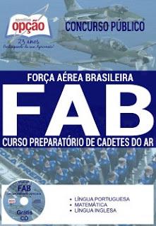 Apostila concurso CPCAR Força Aérea Brasileira Cadetes do Ar 2017.