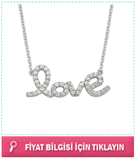 love gümüş kolye