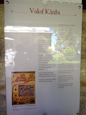 Explanation for relic in Mevlana Musezi Konya Turkey