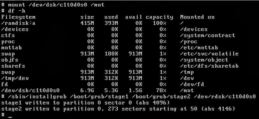 How to Fix the Corrupted GRUB Solaris X86 - UnixRock