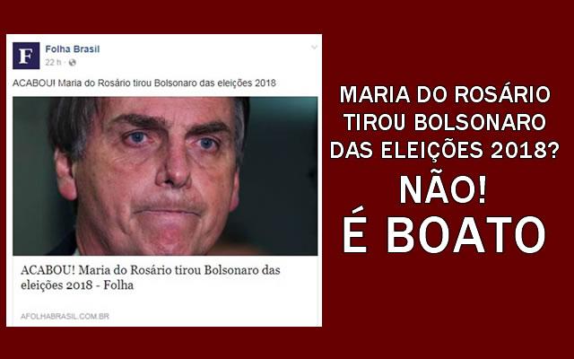Bolsonaro está fora da eleição presidencial de 2018?