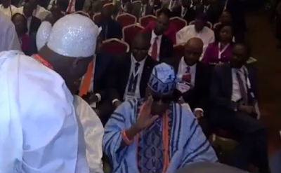 WHAT?! Oba of Lagos Publicly Snubs Ooni of Ife at an event! (Watch Video)