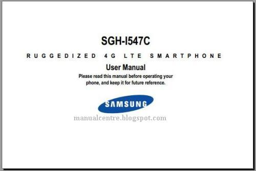 Samsung Galaxy Rugby LTE Manual Cover