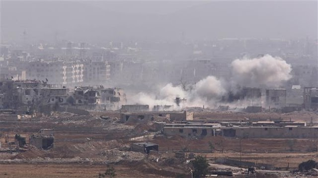 Syrian Army jets bomb militant positions in southern Damascus neighborhood