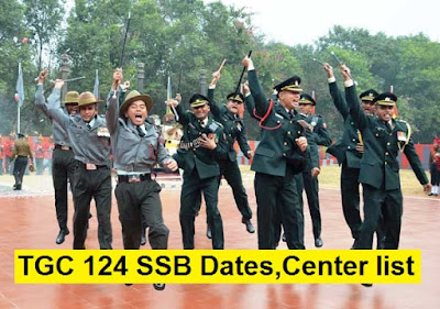 TGC 124 SSB Dates, Centre Allotment and Merit List