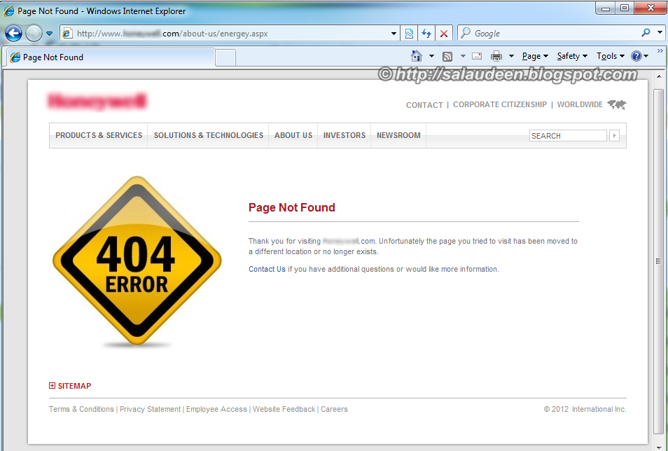 custom 404 page for sharepoint 2010