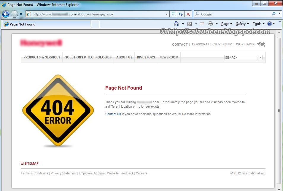error 404 page - photo #27