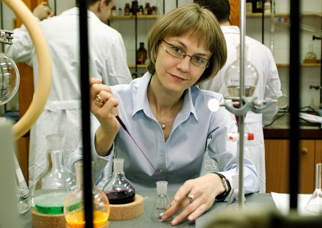 Prof. dr hab. Dorota Gryko - laureatka TEAM 4_2017 - fot. Magdalena Wiśniewska-Krasińska