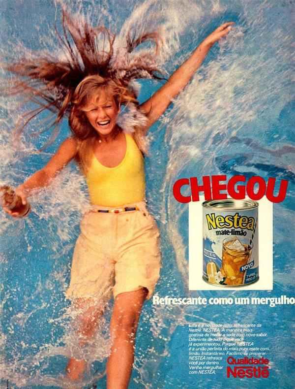 Propaganda da Nestlé no começo dos anos 80 para promover sua linha de chás com a marca Nestea
