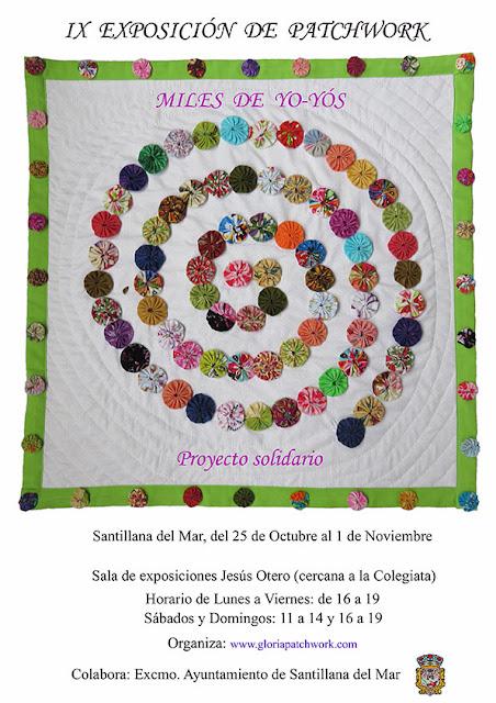 novena exposición de patchwork - miles de yo-yos