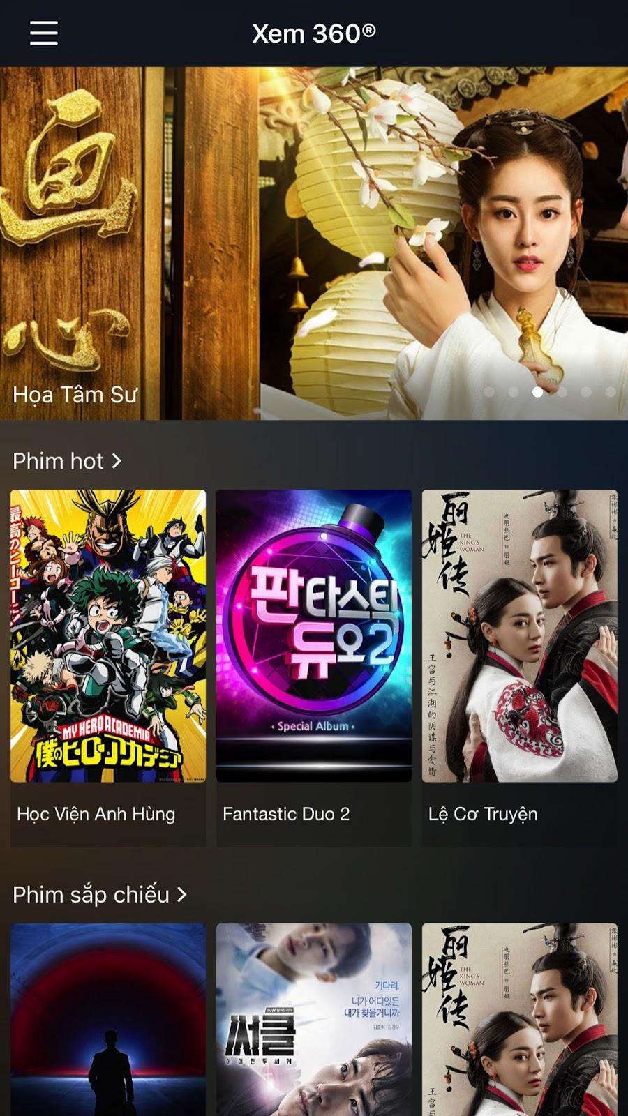Movie 360: Ứng dụng xem phim online miễn phí