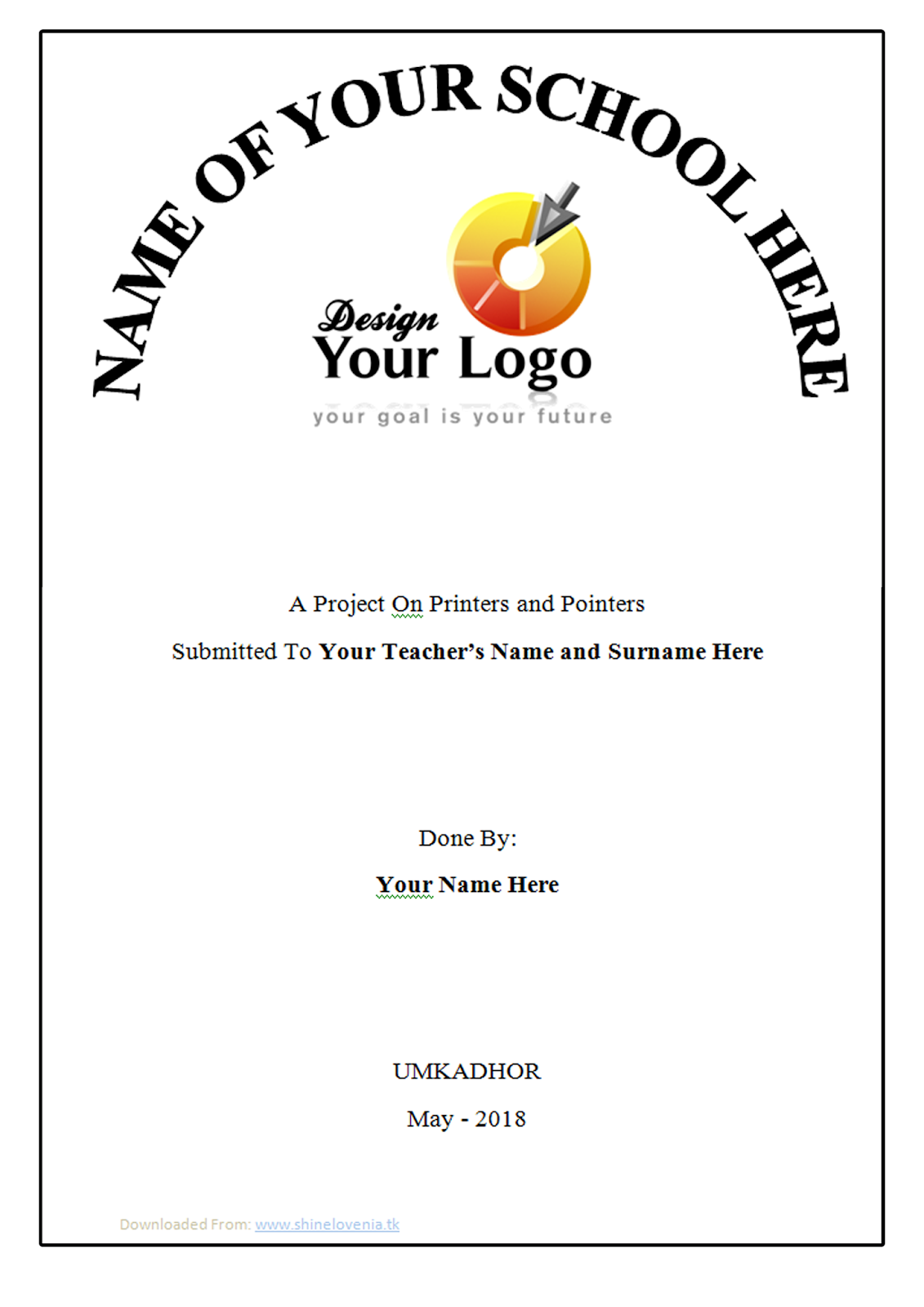 Cover Page Design Example