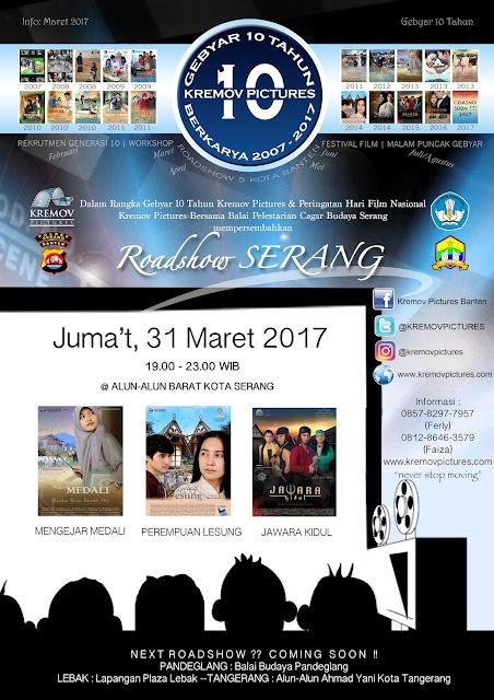 Rayakan Hari Film Nasional di Alun-Alun Barat Kota Serang