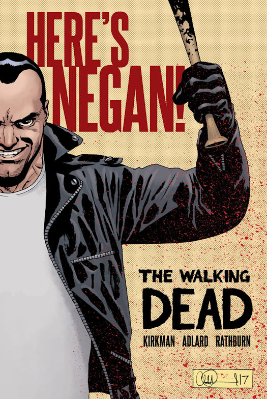 THE WALKING DEAD: HERE'S NEGAN! Hardcover out in October