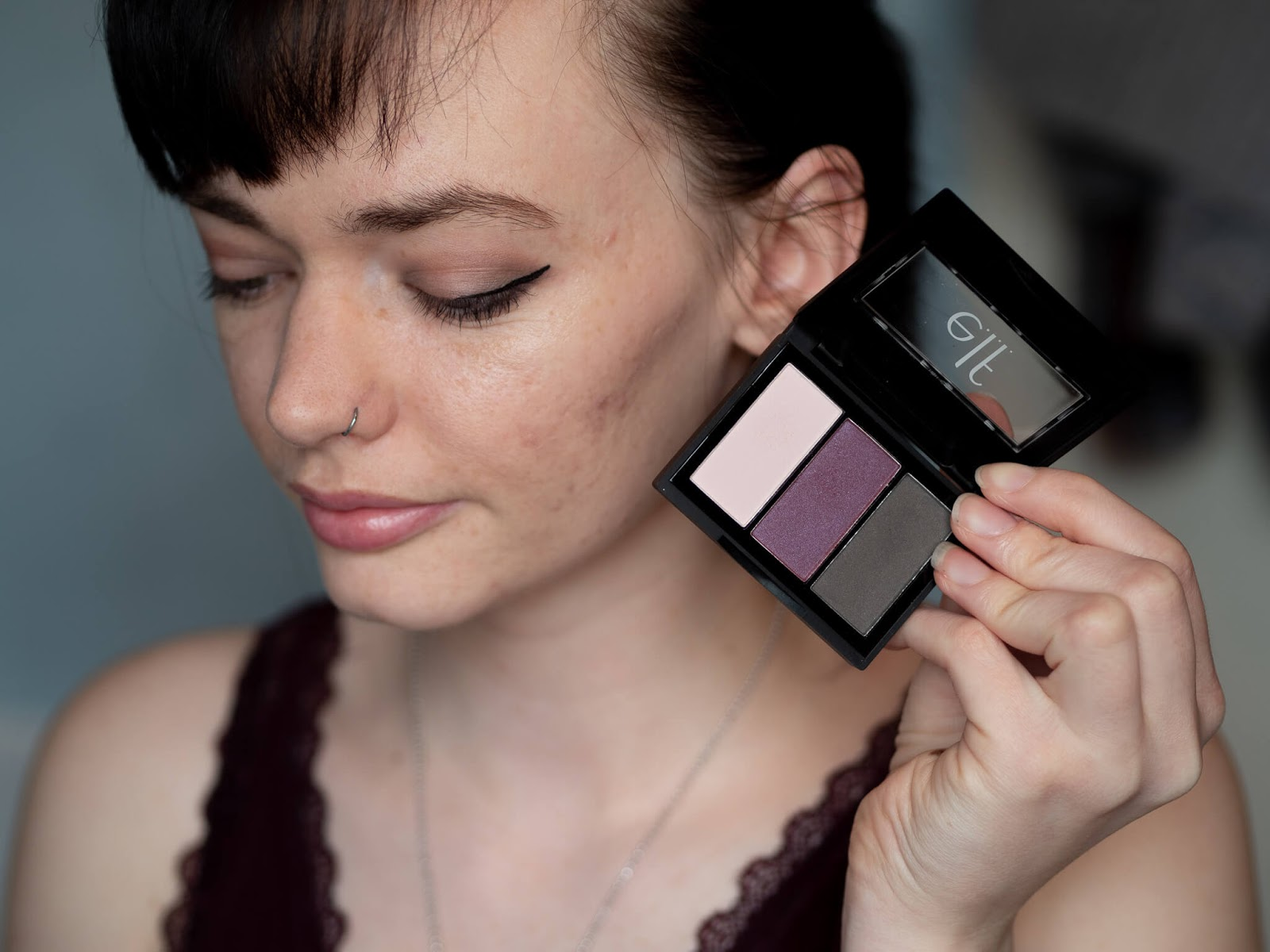 "e.l.f ""Berry Please"" eyeshadow try out"