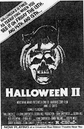 halloween ii 1981 newspaper ads vhs dvd and blu ray covers - Halloween Ii Blu Ray