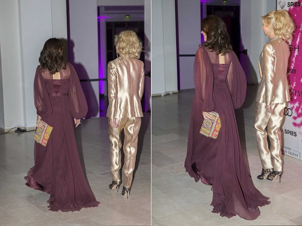 Crown Princess Mary wears Prada Gown, Dress, Zimmermann gown, Ole Yde dress, Gold earrings