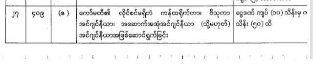 ေက်ာ္ႏိုုင္ – စည္ပင္ဥပေဒ – အၾကံျပဳခ်က္ (၁)