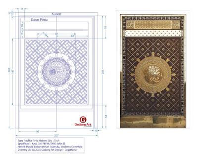 Pembuat pintu masjid Baiturahman tilamuta