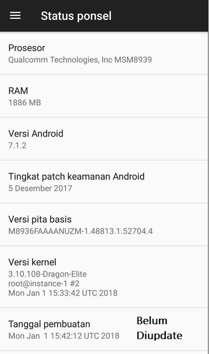 Update Versi Android