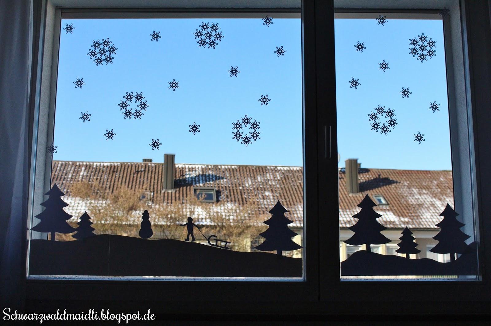 Schwarzwaldmaidli diy winterliche fensterdeko im for Fensterdeko kinderzimmer