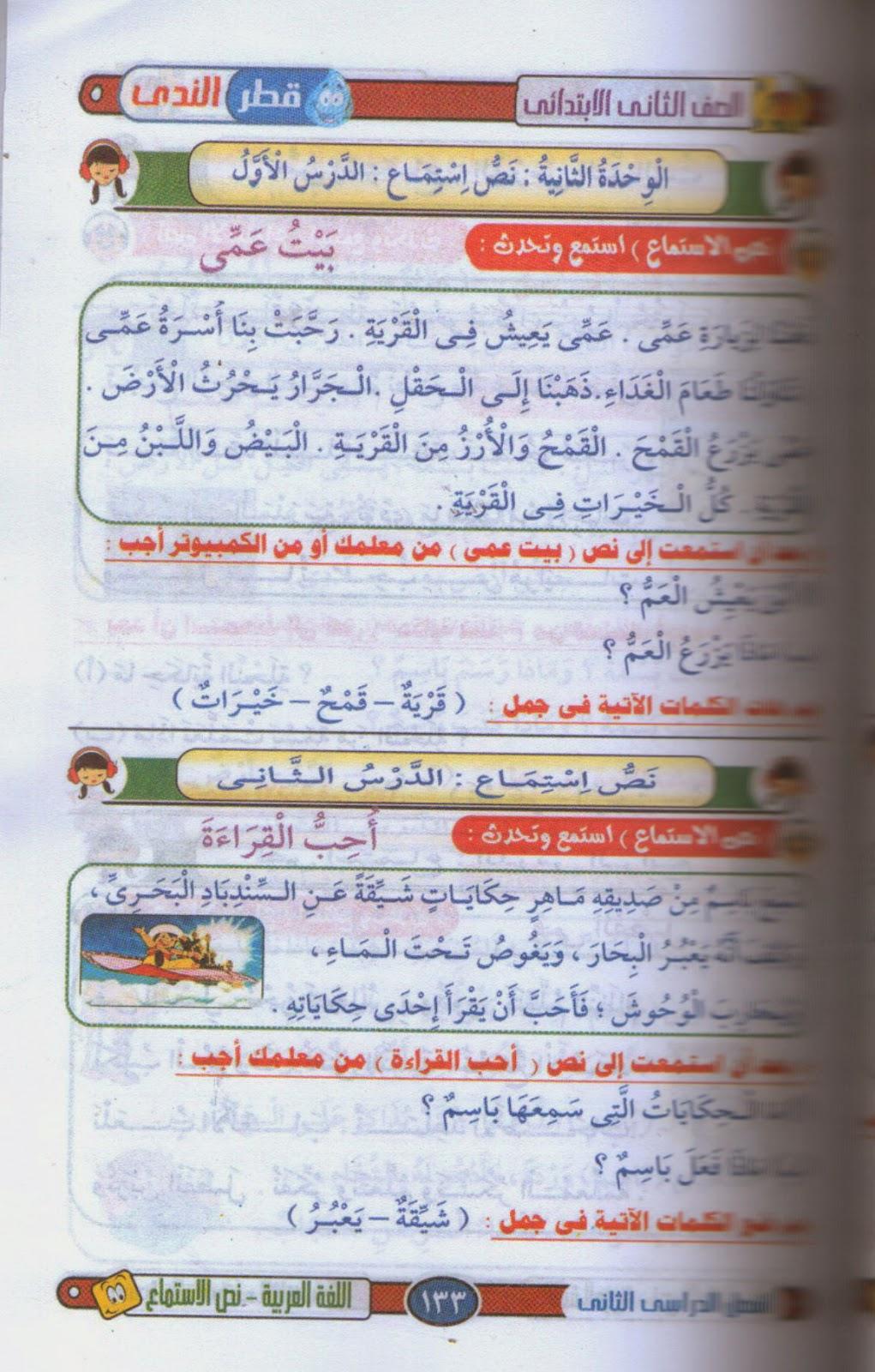 دروس اللغة العربية الكاملة الغير منهجية للصف الثانى الإبتدائى ترم ثانى 2015 4.jpg