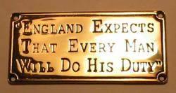 Η Αγγλία περιμένει ότι ο κάθε άντρας θα κάνει το καθήκον του.