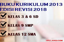 Download Lengkap Buku Kurikulum 2013 Edisi Revisi 2018 Terbaru Kelas 3 SD 6 SD 9 SMP dan 12 SMA