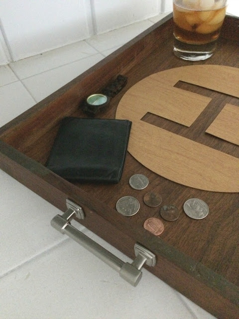 Update a basic tray by adding a faux leather insert made with Cricut.
