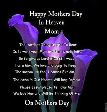 happy mothers day in heaven messages