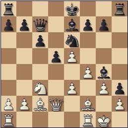 Partida de ajedrez Ribera vs. Palau, posición después de 18...Dc7
