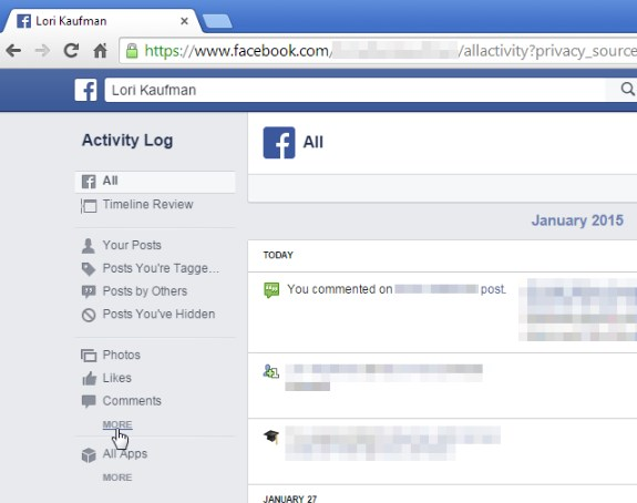 how to delete history on facebook search bar