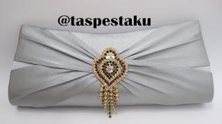 Tas Pesta Mewah Silver Bross Gold Handmade Cantik