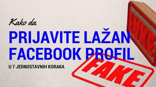 Kako prijaviti lažan profil na Facebook-u?