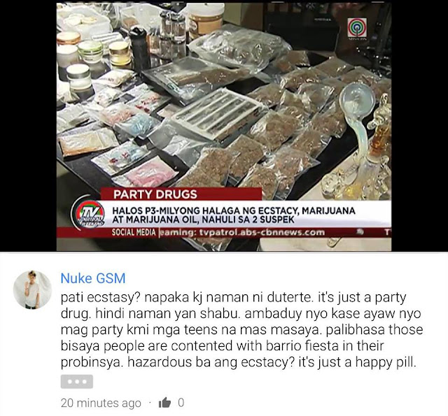 'Napaka KJ naman ni Duterte'. This Netizen Complains About Prohibition of Ecstasy and Goes Viral