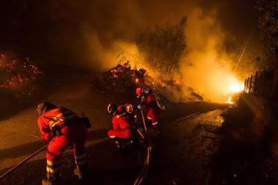 El incendio de Galicia afecta a Asturias