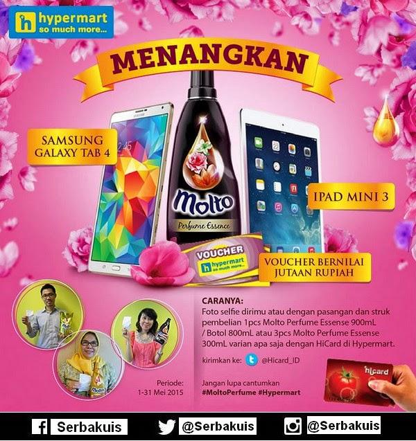 Kontes Foto Molto Perfume Hypermart Hadiah 2 iPad Mini
