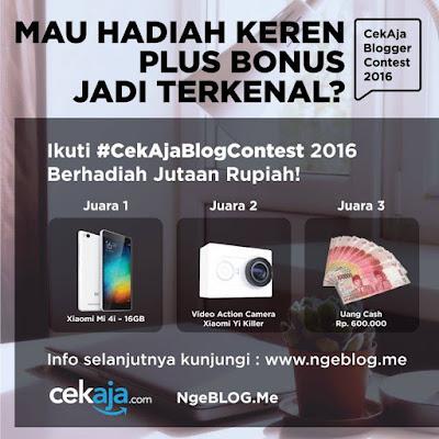 CekAja dan Ngeblog.me Blogger Contest
